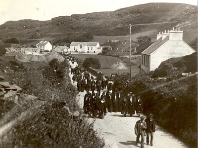 Historical photograph of Gortahork, County Donegal, Ireland